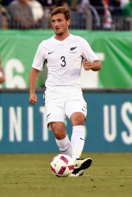 Deklan Wynne #3 of New Zealand plays against Mexico at Nissan Stadium on October 8, 2016 in Nashville, Tennessee.