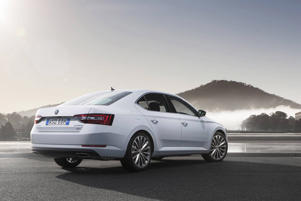 Supplied undated image of the new Skoda Superb, the third generation of the spacious European machine.