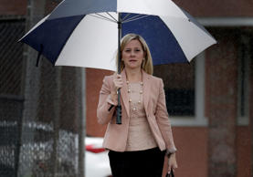 Bridget Anne Kelly, former deputy chief of staff for New Jersey Governor Chris Christie, arrives at federal court in Newark, New Jersey U.S., on Friday, Oct. 21, 2016