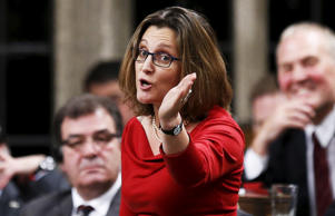 Chrystia Freeland, ministre canadienne du Commerce international, le 7 décembre 2015 à Ottawa.