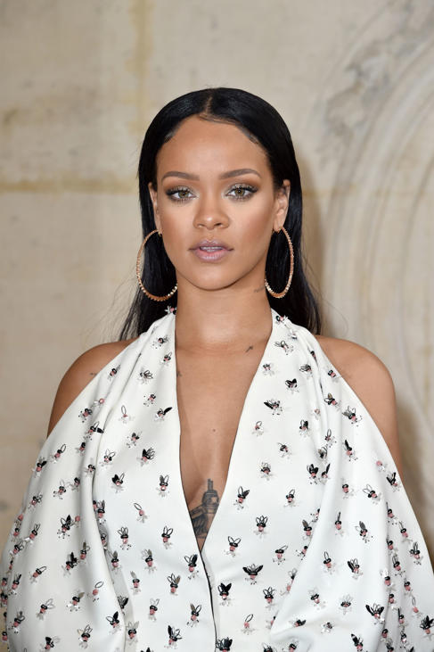 Rihanna attends the Christian Dior show of the Paris Fashion Week Womenswear Spring/Summer 2017 on September 30, 2016 in Paris, France.