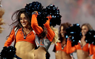 The Denver Broncos cheerleaders perform prior to an NFL football game against the Houston Texans, Monday, Oct. 24, 2016, in Denver.