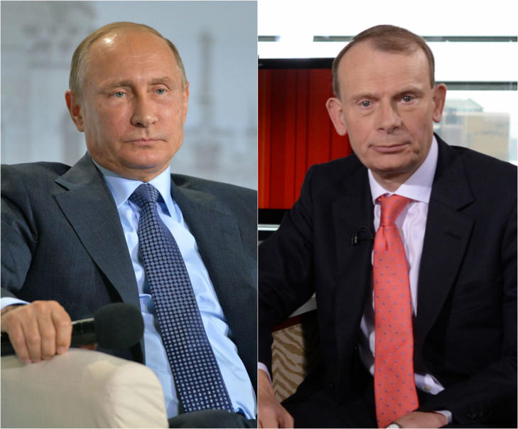 Vladimir Putin and Andrew Marr