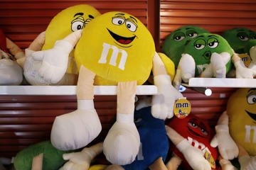 The M&M's store in Times Square in New York.