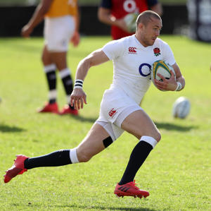 Mike Brown at training for England.