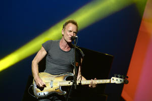 NEW YORK, NY - SEPTEMBER 27:  Sting performs on stage during Advertising Week New York 2016 - D&AD Impact at the PlayStation Theater on September 27, 2016 in New York City.  (Photo by Andrew Toth/Getty Images for Advertising Week New York)