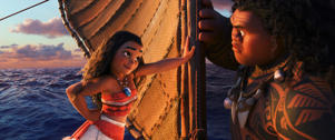 Tenacious teenager Moana (voice of Auliʻi Cravalho) recruits a demigod named Maui (voice of Dwayne Johnson) to help her become a master wayfinder and sail out on a daring mission to save her people.