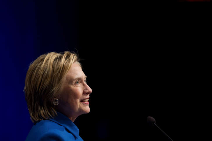 Hillary Clinton addresses the Children's Defense Fund's Beat the Odds celebration at the Newseum in Washington, Wednesday, Nov. 16, 2016.