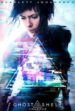 26 枚のスライドの 1 枚目: Poster of Ghost in the Shell starring Scarlett Johansson