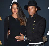 Pharrell Willams and Helen Lasichanh arrive at the 2016 Governors Awards on Satu...