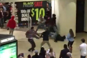 A fight broke out at Vintage Faire Mall in Modesto, Calif., Nov. 24, 2016.