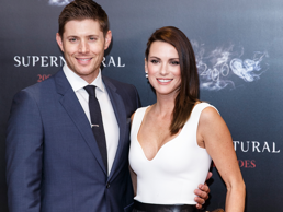 VANCOUVER, BC - OCTOBER 18: (L-R) Actor Jensen Ackles and Actress Danneel Ackles celebrate the 200th episode of 'Supernatural' at Fairmont Pacific Rim Hotel on October 18, 2014 in Vancouver, Canada. (Photo by Andrew Chin/Getty Images)