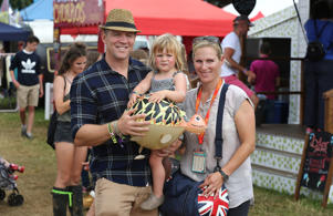 Mike Tindall, Zara Tindell and their daughter Mia Tindall