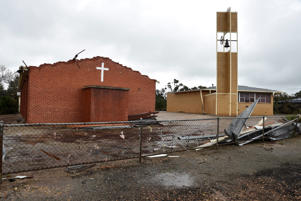 Storm damage is seen in the town of Blyth, South Australia, Thursday, Sept. 29, 2016