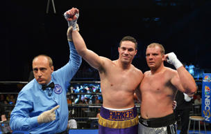 Joseph Parker has fought just four of his professional bouts outside of New Zealand including his August 2014 win (pictured) third round win over Keith Thompson in Pennsylvania, USA.