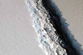 Scientists on NASA's IceBridge mission photographed an oblique view of a massive...