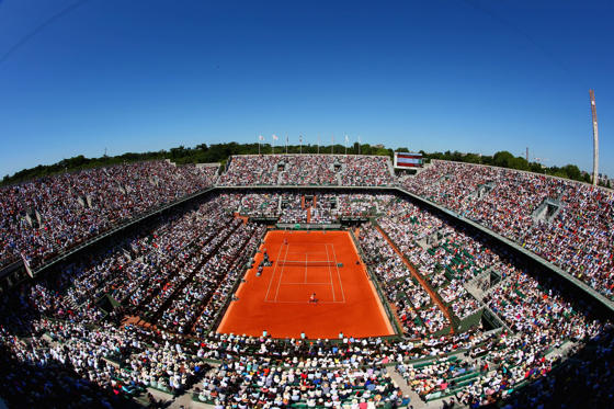 PARIS, FRANCE - JUNE 06: A general view over Court Philippe Chatrier during the Women's Singles Final between Serena Williams of the United States and Lucie Safarova of Czech Republic on day fourteen of the 2015 French Open at Roland Garros on June 6, 2015 in Paris, France. (Photo by Clive Brunskill/Getty Images)