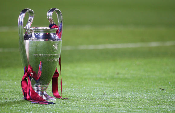 ROME - MAY 27:  The Champions League trophy sits on the grass after the UEFA Champions League Final match between Manchester United and Barcelona at the Stadio Olimpico on May 27, 2009 in Rome, Italy. Barcelona won 2-0. (Photo by Laurence Griffiths/Getty