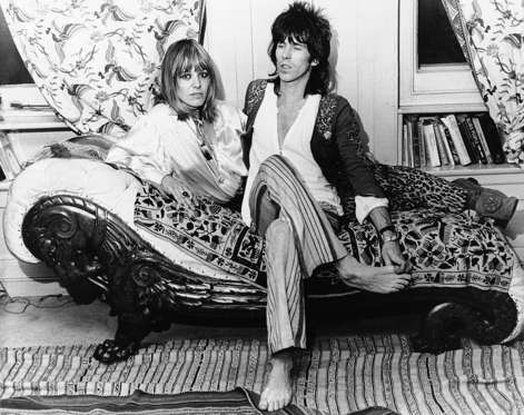 "Keith Richards of the Rolling Stones rock group and his German girlfriend Anita Pallenberg relax at his home in London, Dec. 8, 1969, after he flew in from the U.S. where the group had been on tour. Miss Pallenberg complained that the British government had ordered her to marry Richards or get out of the country. The Home Office, which is responsible for deciding such things, said ""We cannot understand this complaint. We have informed Miss Pallenberg that her permit to stay in this country has been extended until next October. The usual steps were taken to inform her."""