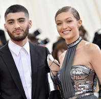 Zayn Malik (L) and Gigi Hadid