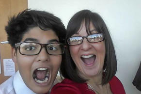 Jodi Kacz, right, and her adopted son Orlando.