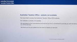 A picture of the website of the Australian Taxation office in Canberra