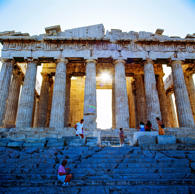 See the sun rise over the ancient Parthenon