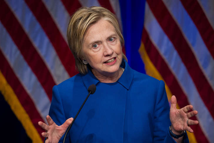 FILE - In this Nov. 16, 2016 file photo, Hillary Clinton speaks in Washington. Clinton is blaming Russian interference for her defeat in the presidential race, casting her campaign as fodder in a long-running effort by Russian President Vladimir Putin to discredit the fundamental tenants of American government.