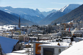 FILE PHOTO: A general view of Davos during the annual meeting of the World Economic Forum (WEF) in Davos, Switzerland January 22, 2016.