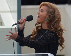 Usa Obama Inauguration - Jan 2013 Us Singer Beyonce Performs the National Anthem...