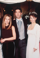 Why Ross said Rachel's name at the altar instead of Emily?