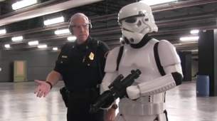 Stormtrooper tries out for police force