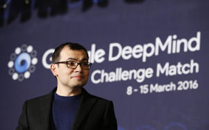CEO of Google DeepMind Demis Hassabis attends at a press conference after the Google DeepMind Challenge Match between South Korean professional Go player Lee Sedol and Google's artificial intelligence program, AlphaGo, in Seoul, South Korea, Wednesday, March 9, 2016.