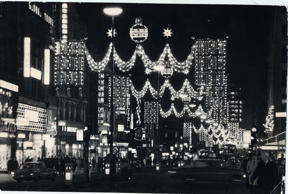 Oxford Street Christmas Lights 1966. Oxford Street Christmas Lights 1966.