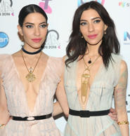 The Veronicas pose in the media room during the 30th Annual ARIA Awards 2016 at ...