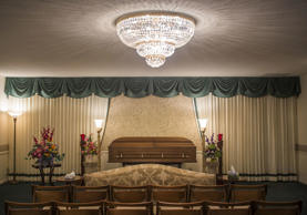 This Monday, Jan. 25, 2016 photo shows a room inside a funeral home in Saginaw, ...