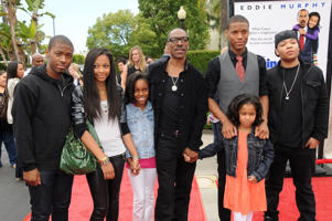 Los Angeles Premiere of ' Imagine That' Eddie Murphy and Family