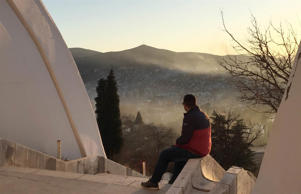 Dimitri looks out over the Macedonian town of Veles