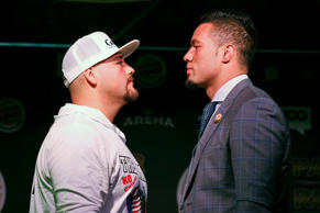 Andy Ruiz Jr and Joseph Parker square off before their world title fight.
