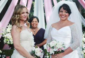 GREY'S ANATOMY - 'White Wedding' - As Callie and Arizona's wedding approaches, the couple quickly realize that the day they've been looking forward to is not turning out the way they'd envisioned. Meanwhile Alex continues to make the other residents jeal