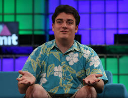 Palmer Luckey, founder of Oculus VR, speaking at the three day Web Summit at the RDS in Dublin.