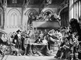 King Charles I of England went on trial, accused of high treason (he was found g...