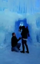 Man's proposes inside an ice cave