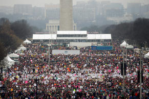 People pack the National Mall for the Women's March in Washington, U.S. January ...
