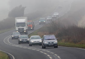 Fog causing disruption for commuters and flights
