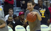 Boy sinks three half-court shots in a row
