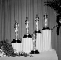 Oscar Statuettes Being Displayed