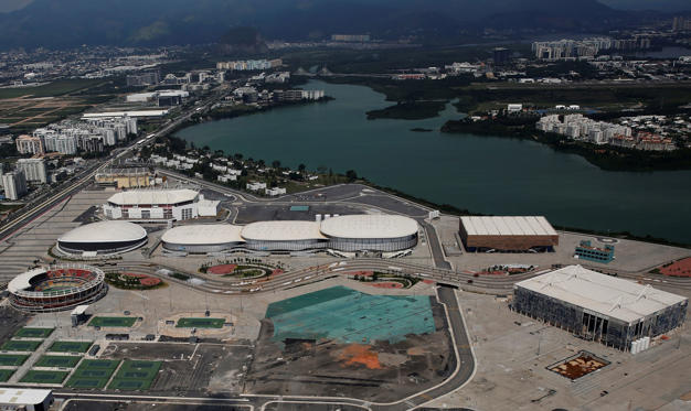 Slide 2 of 36: An aerial view shows the Olympic park which was used for the Rio 2016 Olympic Games, in Rio de Janeiro, Brazil January 15, 2017. Picture taken on January 15, 2017.