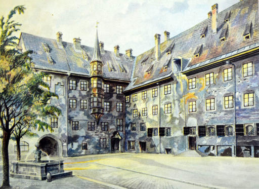 Slide 4 of 17: VARIOUS Painting by Adolf Hitler painted in Munich just before World War One, 1914