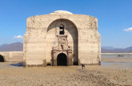 Drought exposes 400-year-old church in Mexico